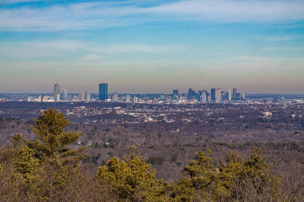 Photograph - Boston Cityscape From The Summit Of Great Blue Hill  by Brian MacLean