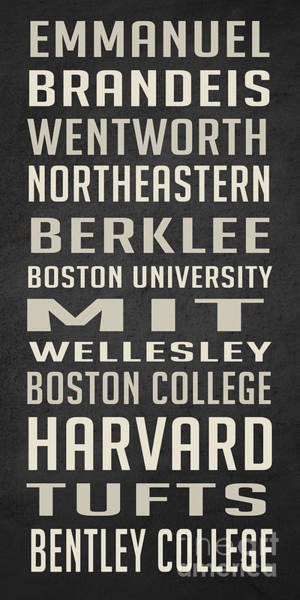 Museum Digital Art - Boston Colleges Poster by Edward Fielding