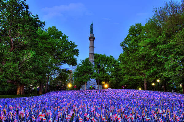 Photograph - Boston Common Memorial Day Flags by Joann Vitali