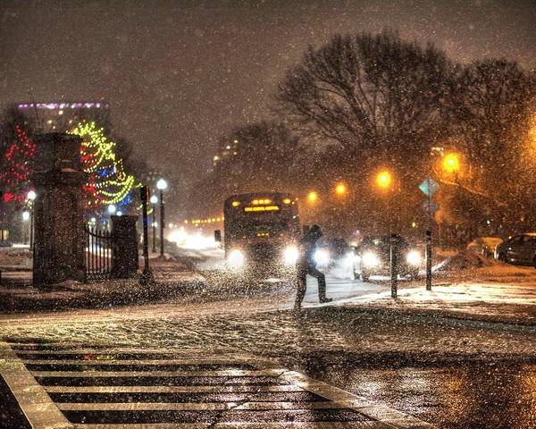 Photograph - Boston Common Snowstorm Ma by Toby McGuire