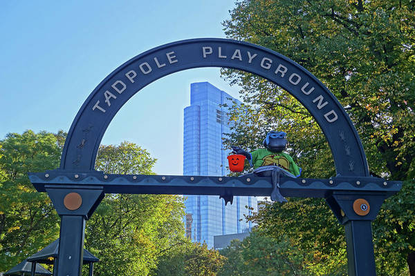 Photograph - Boston Common Tadpole Playground Halloween by Toby McGuire