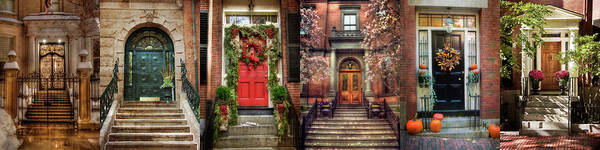 Photograph - Boston Doorways by Joann Vitali
