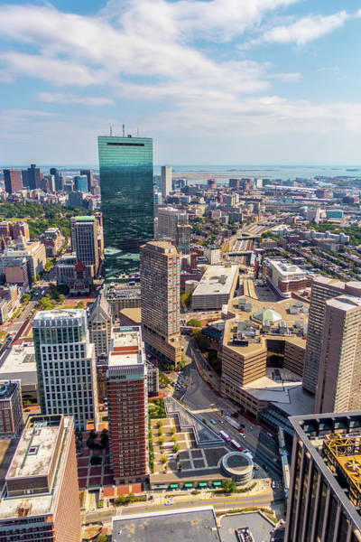 Photograph - Boston Downtown View by SR Green