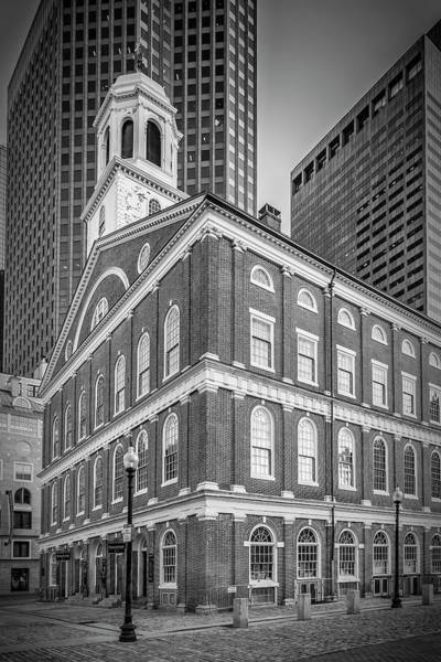 Wall Art - Photograph - Boston Faneuil Hall - Monochrome by Melanie Viola