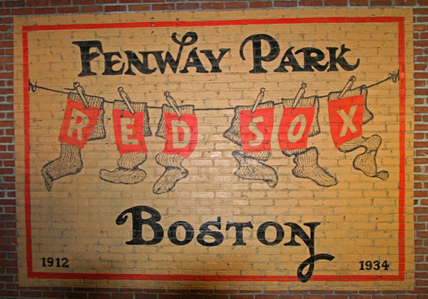Photograph - Boston Fenway Park Vintage Sign by Juergen Roth