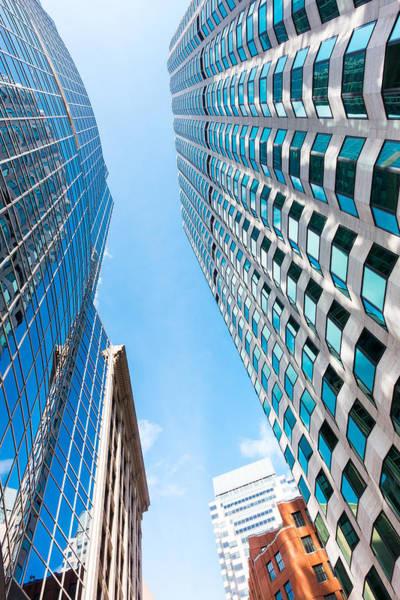 Photograph - Boston Financial District by SR Green
