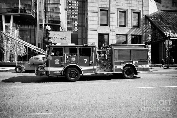 Wall Art - Photograph - Boston Fire Department Engine 7 In Back Bay Usa by Joe Fox