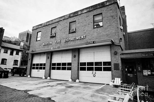 Wall Art - Photograph - Boston Fire Department Fire Station District 3 Ladder 24 Engine 4 Usa by Joe Fox