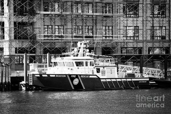 Wall Art - Photograph - Boston Fire Rescue Fireboat John S Damrell Usa by Joe Fox