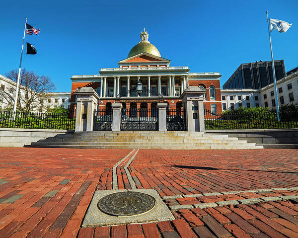 Photograph - Boston Freedom Trail To State House Boston Ma by Toby McGuire
