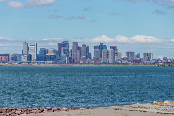 Photograph - Boston From Across The Harbor At Deer Island by Brian MacLean