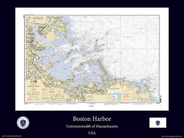 Noaa Chart Wall Art - Photograph - Boston Harbor by Adelaide Images