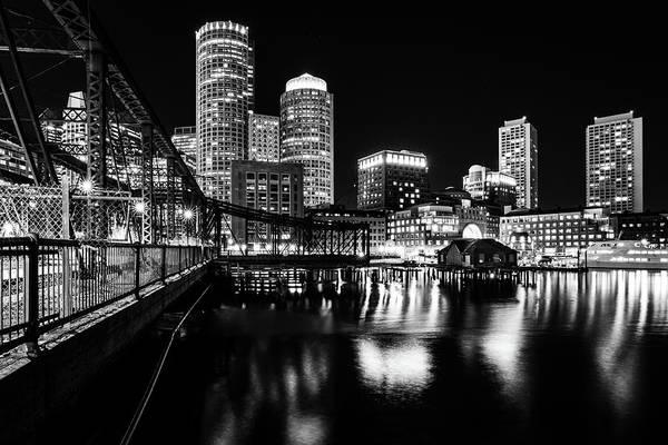 Photograph - Boston Harbor And The Old Northern Avenue Bridge by Kristen Wilkinson
