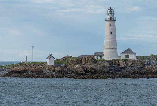 Photograph - Boston Harbor Beacons by Brian MacLean