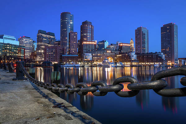 Photograph - Boston Harbor Blue by Colin Chase