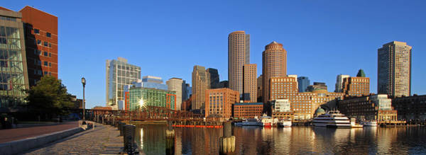 Photograph - Boston Harbor Panorama by Juergen Roth