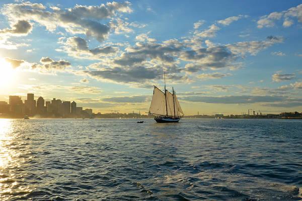 Photograph - Boston Harbor Sailboat Boston Ma by Toby McGuire