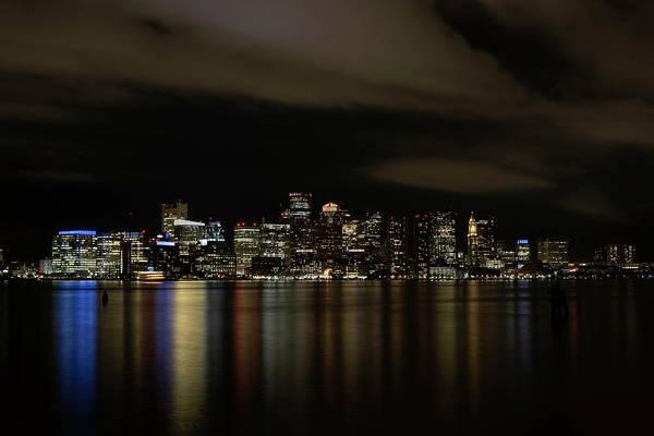 Boston Harbor Skyline Art Print