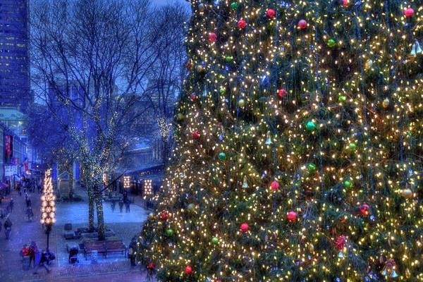 Photograph - Boston Holiday Stroll - Faneuil Hall by Joann Vitali