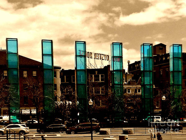 Photograph - New England Holocaust Memorial, Boston, Massachustts by Lita Kelley