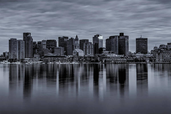 Boston In Monochrome Art Print