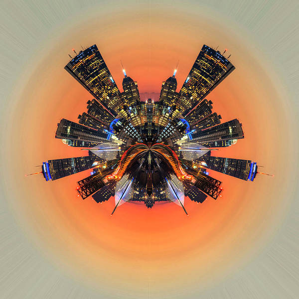 Photograph - Boston Kaleidoscope Abstract Boston Ma Skyline At Sunset by Toby McGuire