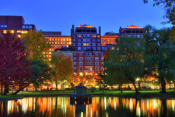 Photograph - Boston Lagoon In The Public Garden by Joann Vitali
