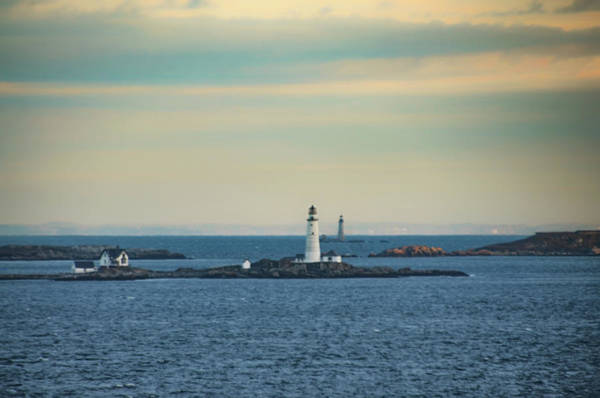 Photograph - Boston Light And Graves Lighthouse - Boston Harbor by Bill Cannon
