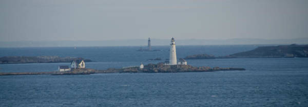 Photograph - Boston Light And The Grave Light Panorama by Bill Cannon