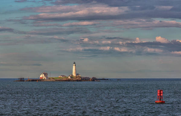 Photograph - Boston Lighthouse And Buoy by Brian MacLean