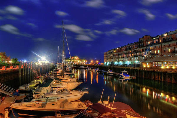 Photograph - Boston Long Wharf At Night by Joann Vitali