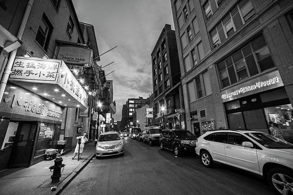 Photograph - Boston Ma China Town Black And White by Toby McGuire