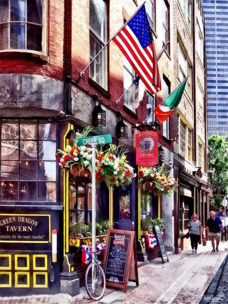 Photograph - Boston Ma - Restaurants On Creek Square by Susan Savad