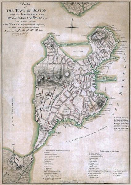 Wall Art - Photograph - Boston Map Circa 1775 by Jon Neidert