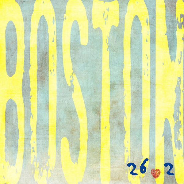 Square Mile Wall Art - Digital Art - Boston Marathon 26.2 by Brandi Fitzgerald