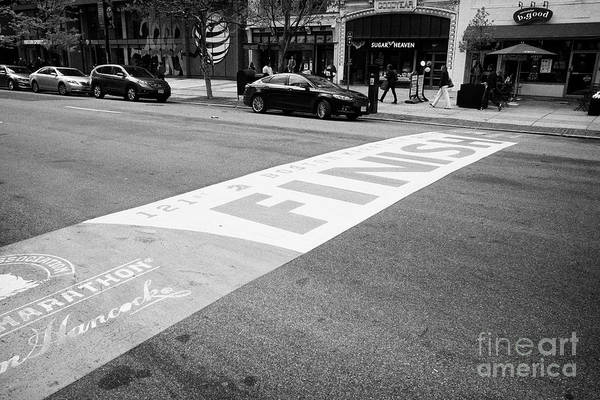 Boston Marathon Wall Art - Photograph - Boston Marathon Finish Line Boylston Street Usa by Joe Fox