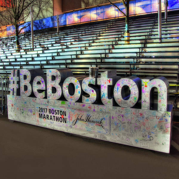 Boston Marathon Wall Art - Photograph - Boston Marathon Sign by Joann Vitali