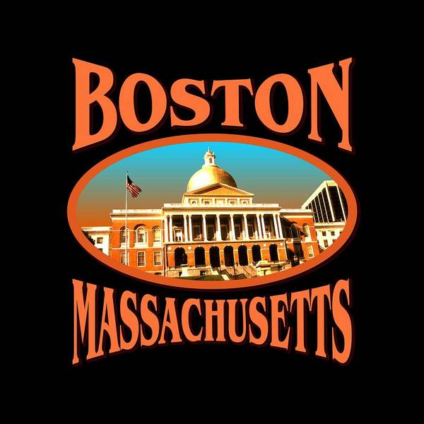 Mixed Media - Boston Massachusetts Design by Peter Potter