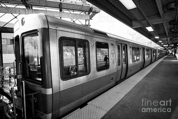 Wall Art - Photograph - Boston Mbta The T Red Line Train Usa by Joe Fox