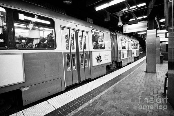 Wall Art - Photograph - Boston Mbta Underground Green Line Station Park Street Usa by Joe Fox