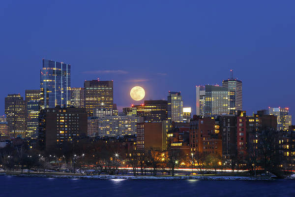 Photograph - Boston Moonrise by Juergen Roth