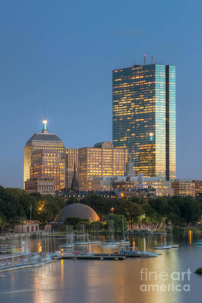 Photograph - Boston Night Skyline Iv by Clarence Holmes