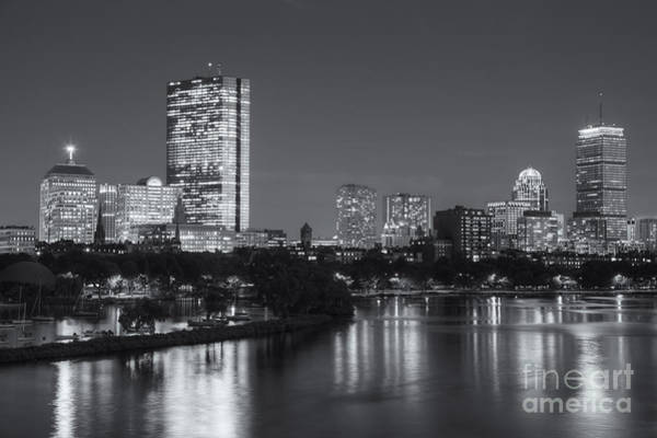 Boston Night Skyline V Art Print