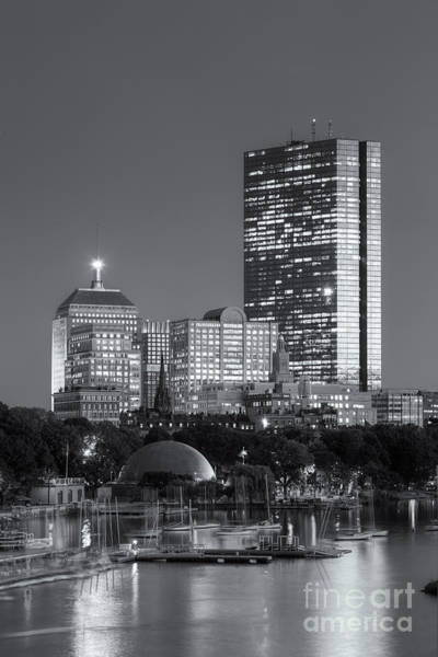 Photograph - Boston Night Skyline Viii by Clarence Holmes