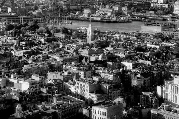 Photograph - Boston North End Aerial by Joann Vitali