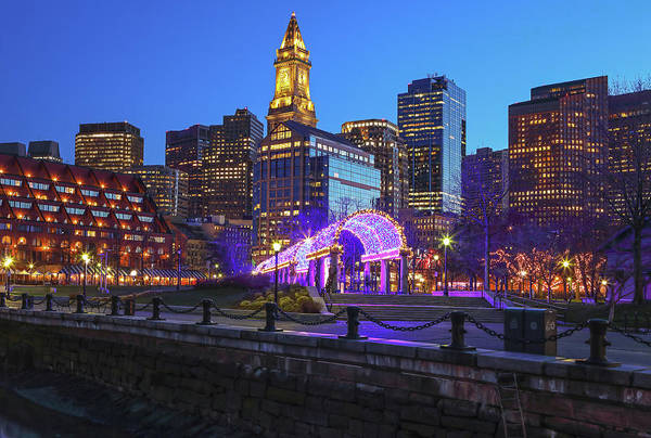 Photograph - Boston North End Christopher Columbus Waterfront Park by Juergen Roth