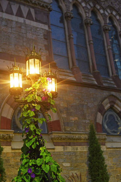 Photograph - Boston Old South Church Street Lights Boston Ma by Toby McGuire