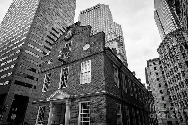 Wall Art - Photograph - Boston Old State House Museum Usa by Joe Fox