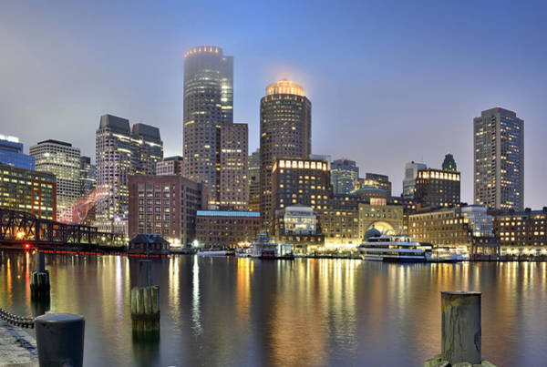 Wall Art - Photograph - Boston On A Foggy Evening by Brendan Reals