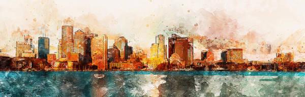 Boston, Panorama - 10 Art Print